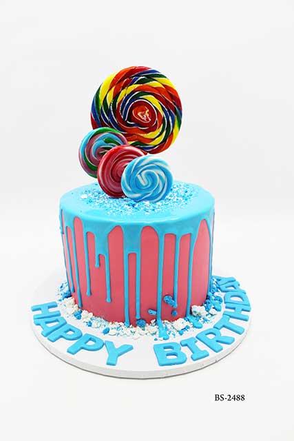 Cool Lollipop Birthday Cake Bs 2488 Bee Sweet Uae Best Cakes Birthday Cards Printable Inklcafe Filternl