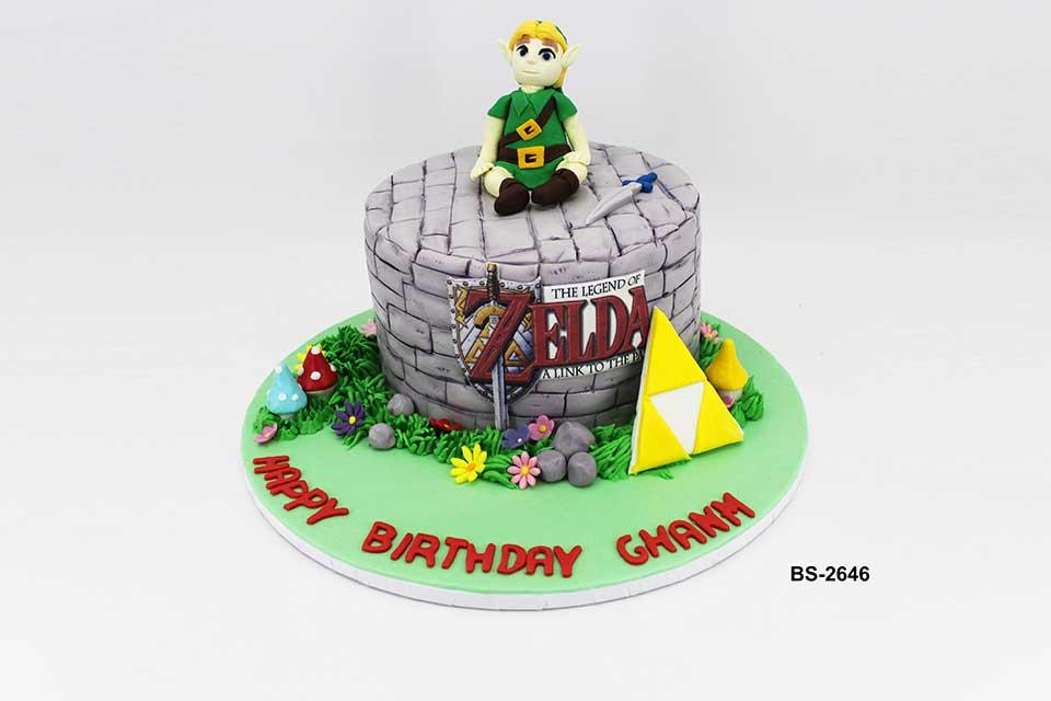 Prime The Legend Of Zelda Cake Bs 2646 Bee Sweet Uae Best Birthday Funny Birthday Cards Online Elaedamsfinfo