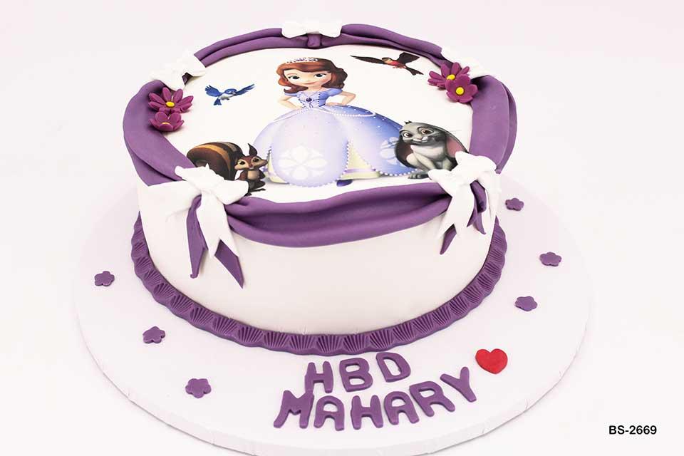 Princess Sofia Cake (BS-2669) - Bee Sweet UAE