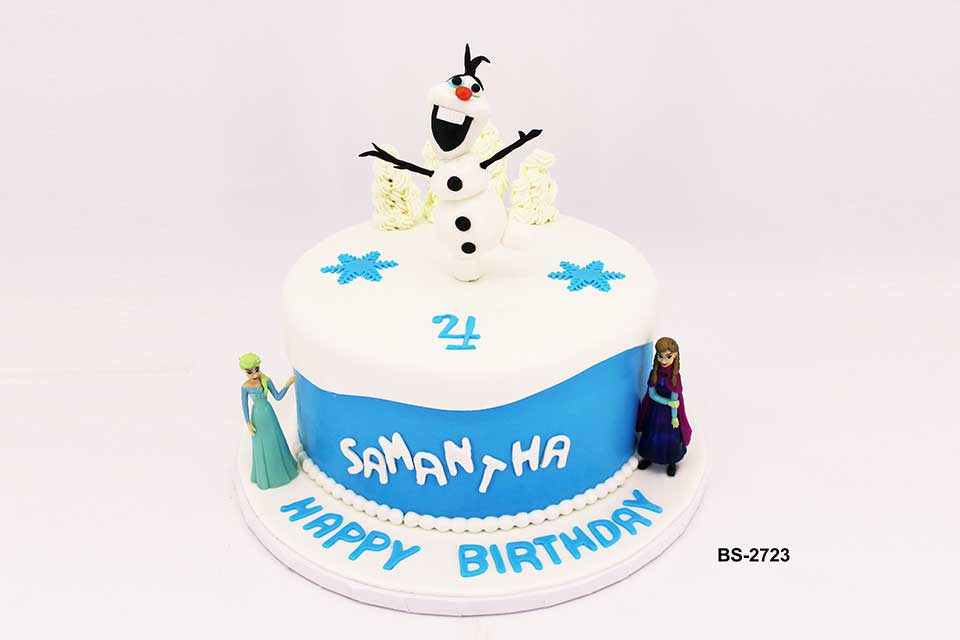 Enjoyable Frozen Birthday Cake Bs 2723 Bee Sweet Uae Best Cakes Personalised Birthday Cards Paralily Jamesorg