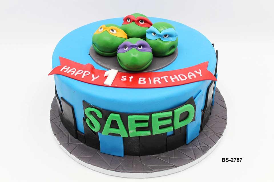 Ninja Turtle Cake (BS-2787)