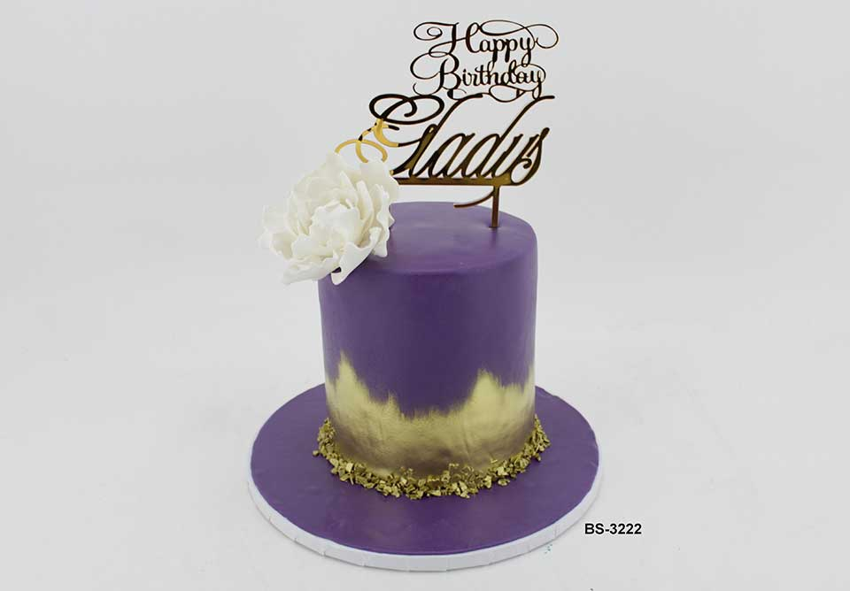 Prime Purple Birthday Cake Bs 3222 Bee Sweet Uae Best Cakes Personalised Birthday Cards Arneslily Jamesorg