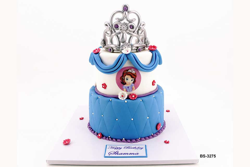 Superb Princess Sofia Birthday Cake Bs 3275 Bee Sweet Uae Best Cakes Funny Birthday Cards Online Inifodamsfinfo