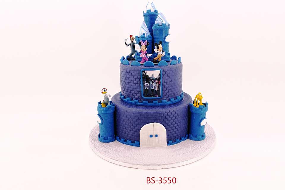 Sensational Disney Castle Cakes Bs 3550 Bee Sweet Uae Amazing Cakes Personalised Birthday Cards Beptaeletsinfo
