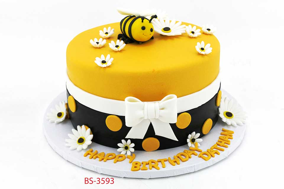 Pleasant Bee Birthday Cake Bs 3593 Bee Sweet Uae Best Cakes Funny Birthday Cards Online Inifofree Goldxyz