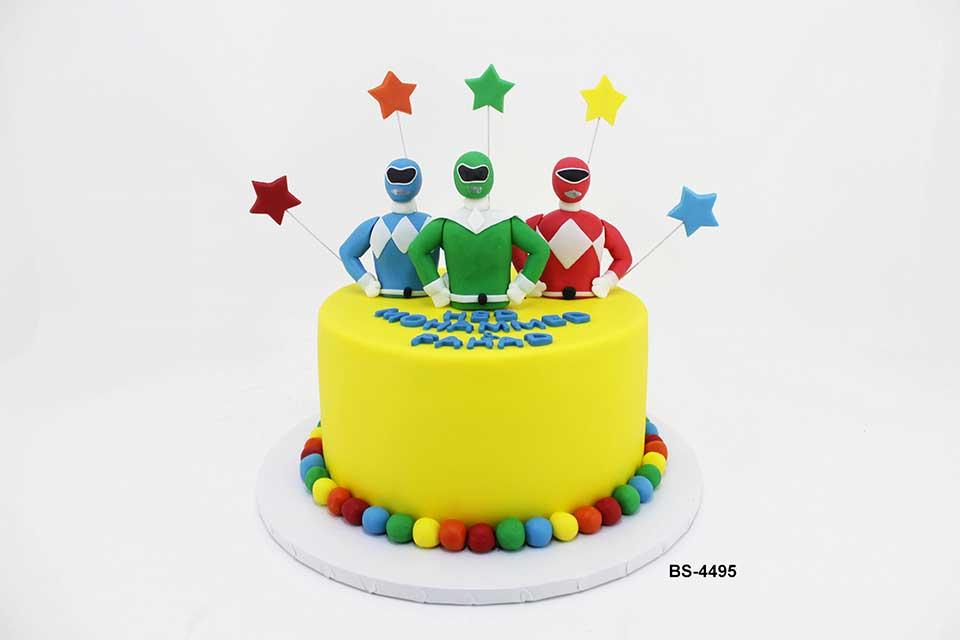 Fine Power Rangers Cake Bs 4495 Bee Sweet Uae Best Birthday Cakes Personalised Birthday Cards Veneteletsinfo