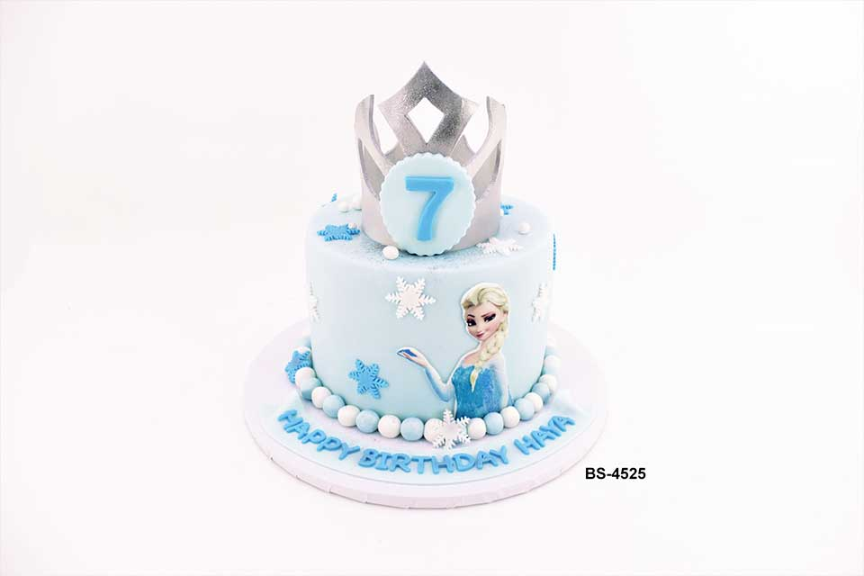 Awe Inspiring Frozen Elsa Birthday Cake Bs 4525 Bee Sweet Uae Best Cakes Funny Birthday Cards Online Overcheapnameinfo