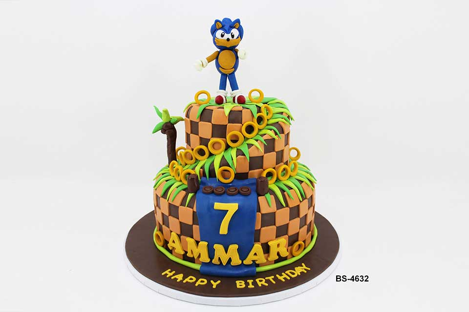 Sonic The Hedgehog Cake Bs 4632 Bee Sweet Uae Best Birthday