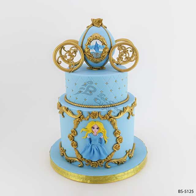 Brilliant Cinderella Birthday Cake Bs 5125 Bee Sweet Uae Best Cakes Funny Birthday Cards Online Overcheapnameinfo