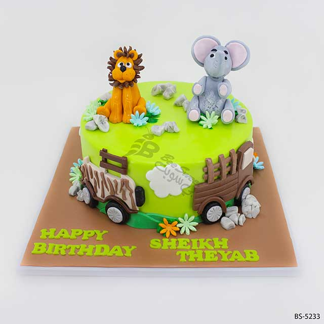 Superb 3D Animal Cakes Bs 5233 Creative Cakes Bee Sweet Uae Funny Birthday Cards Online Alyptdamsfinfo