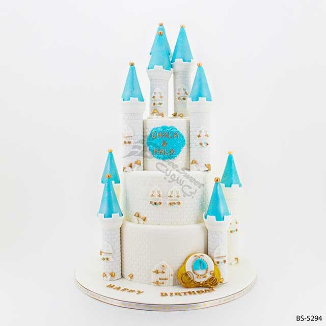 Tremendous Castle Birthday Cake Bs 5294 Bee Sweet Uae Best Cakes Personalised Birthday Cards Petedlily Jamesorg
