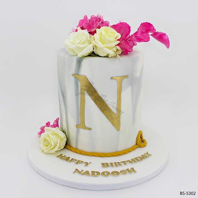 Astounding Flower Birthday Cake Bs 5302 Bee Sweet Uae Best Cakes Funny Birthday Cards Online Elaedamsfinfo