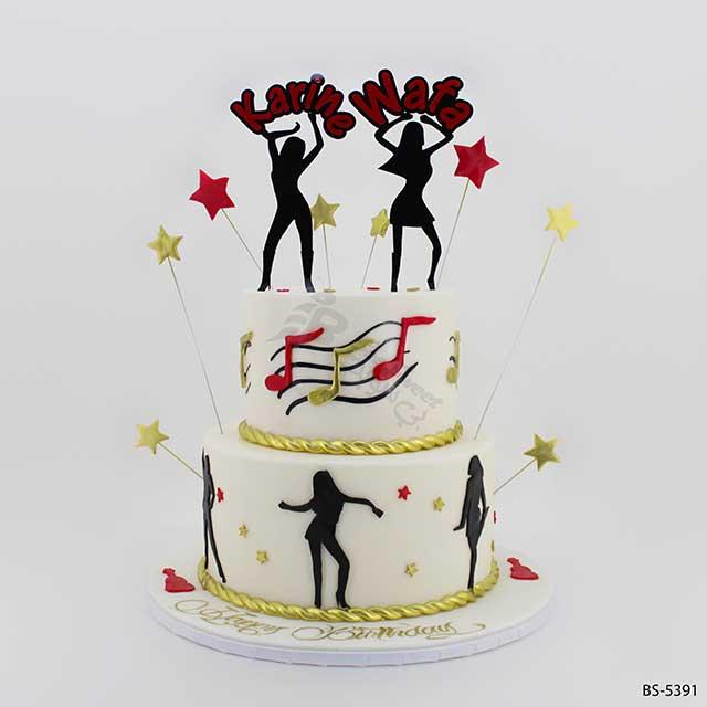 Superb Dancing Birthday Cake Bs 5391 Bee Sweet Uae Best Cakes Personalised Birthday Cards Cominlily Jamesorg