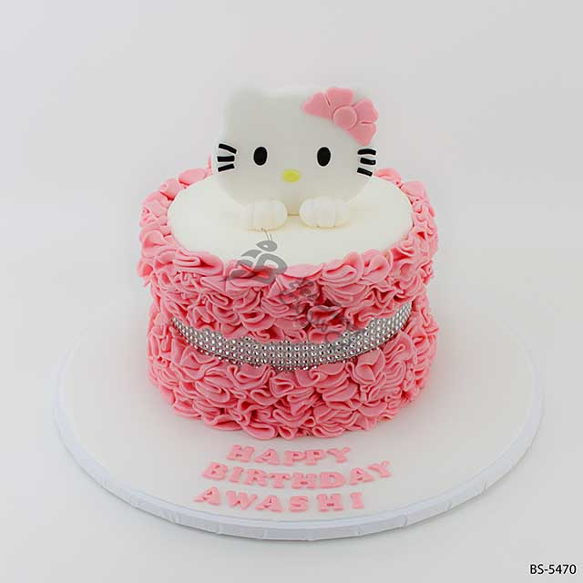 Stupendous Hello Kitty Birthday Cake Bs 5470 Bee Sweet Uae Best Cakes Personalised Birthday Cards Cominlily Jamesorg