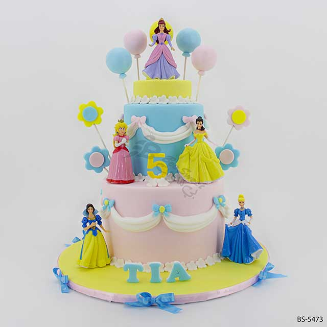 Home Girl Birthday Cakes Disney Princesses Cake BS 5473