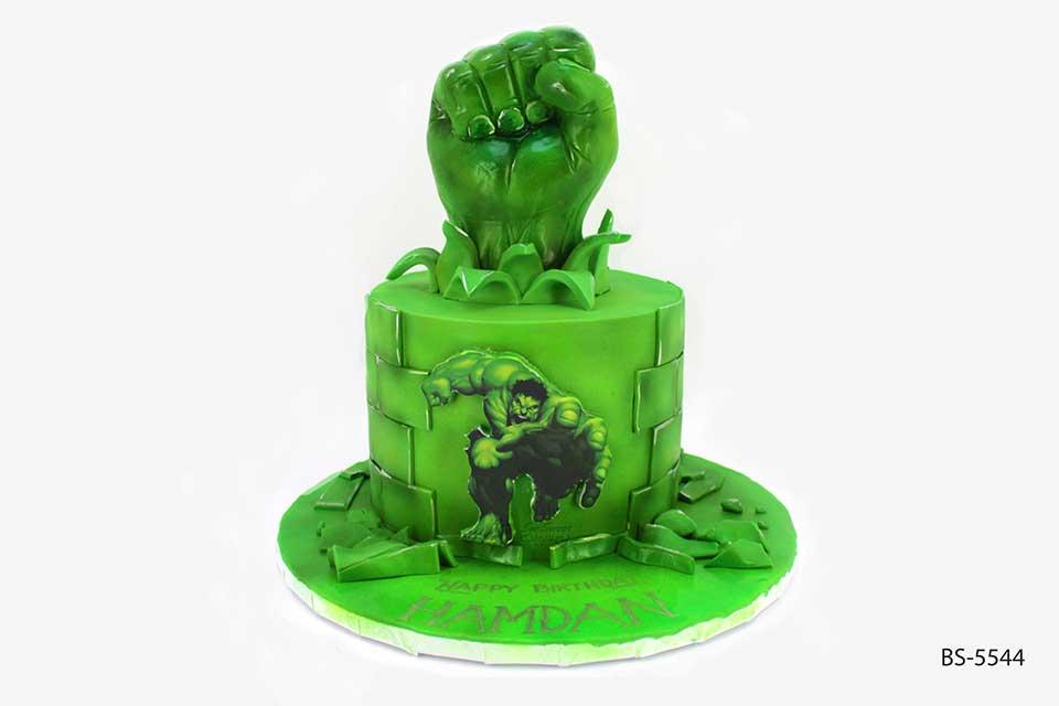 Awesome Incredible Hulk Cake Bs 5544 Bee Sweet Uae Personalised Birthday Cards Veneteletsinfo
