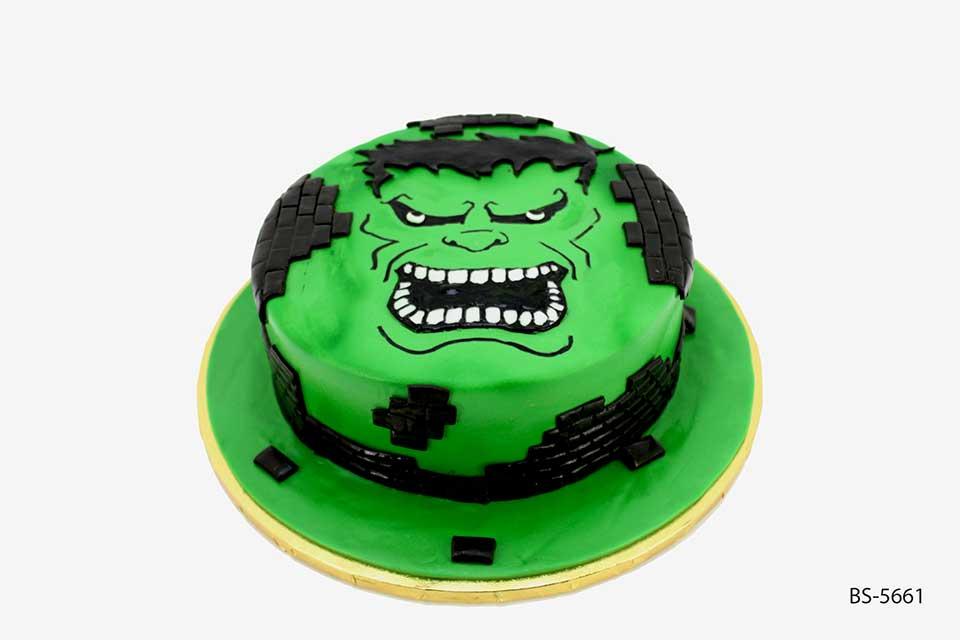 Enjoyable Incredible Hulk Cake Bs 5661 Birthday Cake Bee Sweet Uae Personalised Birthday Cards Veneteletsinfo