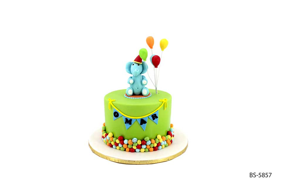 Cool Blue Elephant Birthday Cake Bs 5857 Bee Sweet Uae Funny Birthday Cards Online Overcheapnameinfo