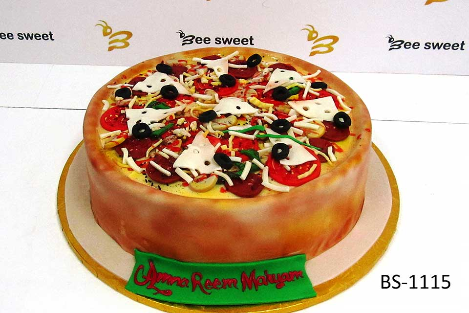 Astonishing Pizza Cake Bs 1115 Creative Birthday Cakes Bee Sweet Uae Birthday Cards Printable Giouspongecafe Filternl
