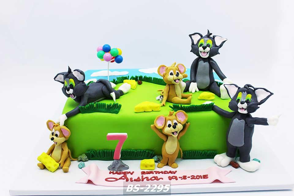 Stupendous Tom Jerry Birthday Cake Bs 2295 Bee Sweet Uae Best Cakes Funny Birthday Cards Online Alyptdamsfinfo