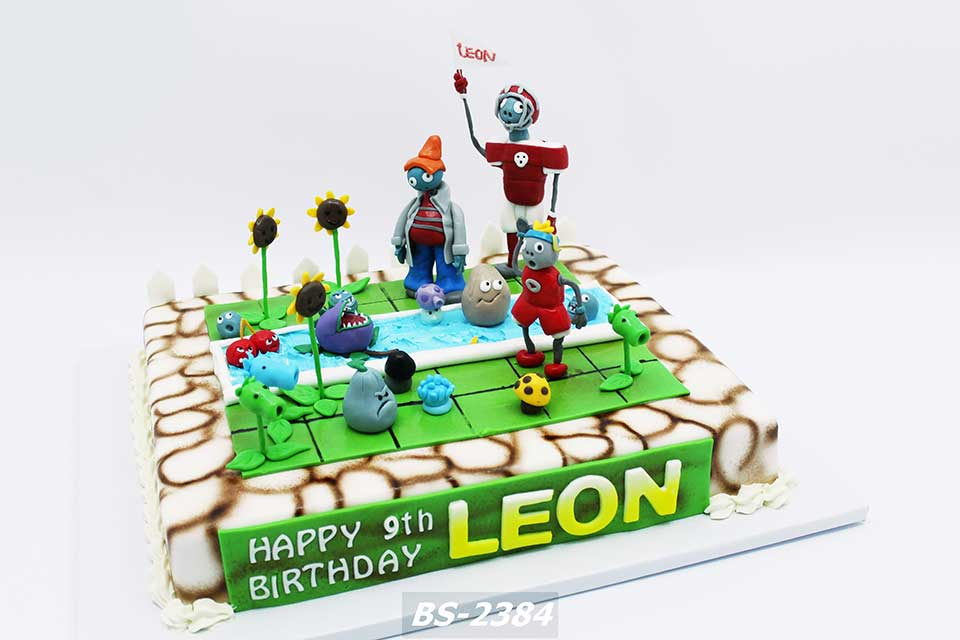 Superb Plants Vs Zombies Birthday Cake Bs 2384 Bee Sweet Uae Best Cakes Funny Birthday Cards Online Overcheapnameinfo