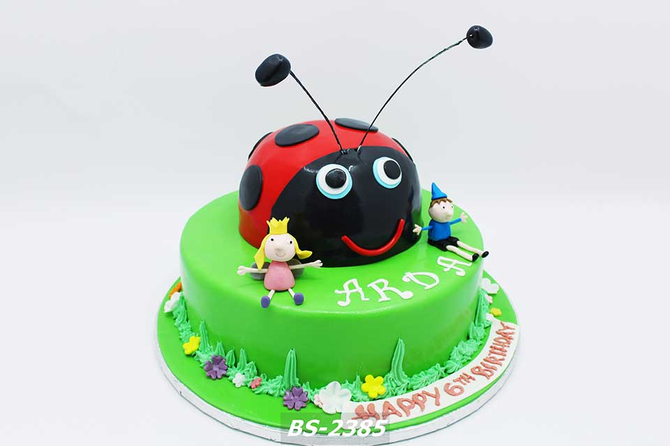 Remarkable Ladybug Birthday Cake Bs 2385 Bee Sweet Uae Best Cakes Funny Birthday Cards Online Alyptdamsfinfo
