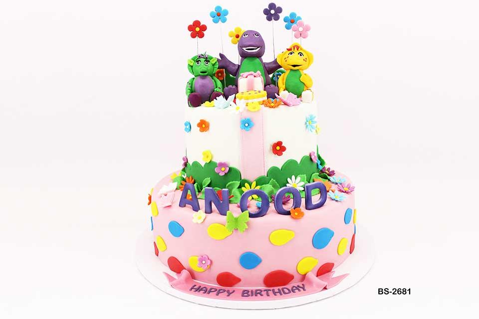 Fantastic Barney Birthday Cake Bs 2681 Bee Sweet Uae Best Cakes Funny Birthday Cards Online Necthendildamsfinfo