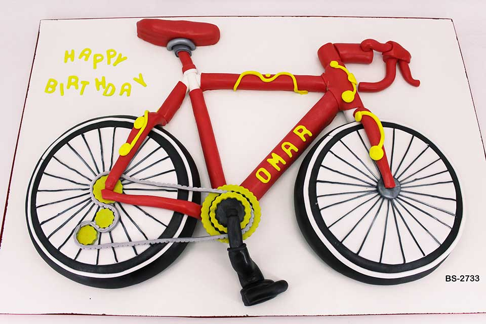 Groovy Bicycle Birthday Cake Bs 2733 Bee Sweet Uae Best Cakes Funny Birthday Cards Online Overcheapnameinfo