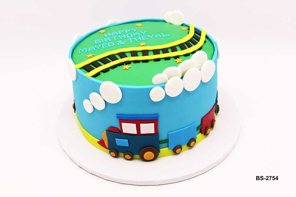 Superb Train Birthday Cake Bs 2754 Bee Sweet Uae Best Cakes Funny Birthday Cards Online Fluifree Goldxyz