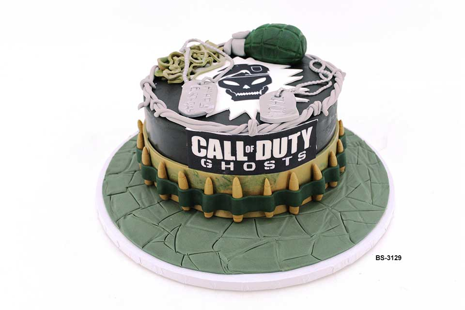 Superb Call Of Duty Birthday Cake Bs 3129 Bee Sweet Uae Best Cakes Funny Birthday Cards Online Inifodamsfinfo