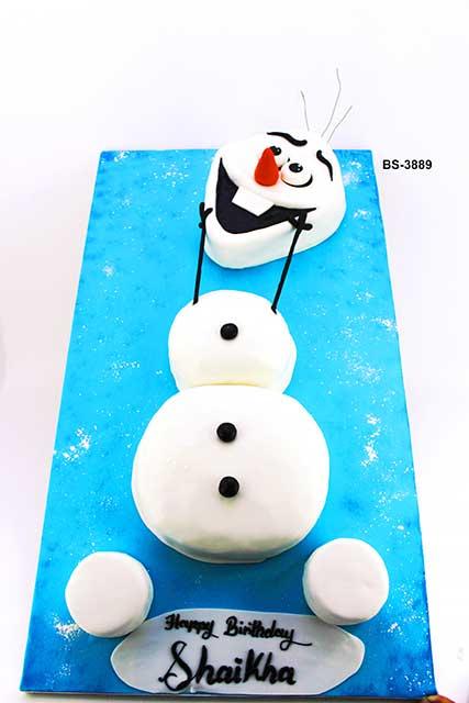 Prime Snowman Cake Bs 3889 Bee Sweet Uae Birthday Cake Personalised Birthday Cards Veneteletsinfo