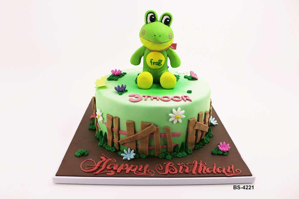 Peachy 3D Frog Cake Bs 4221 Birthday Cakes Funny Birthday Cards Online Necthendildamsfinfo