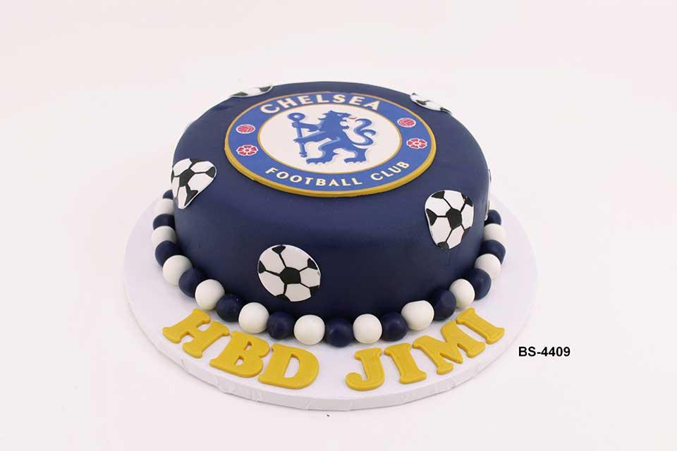 Incredible Chelsea Football Club Cake Bs 4409 Bee Sweet Uae Best Cake Personalised Birthday Cards Veneteletsinfo