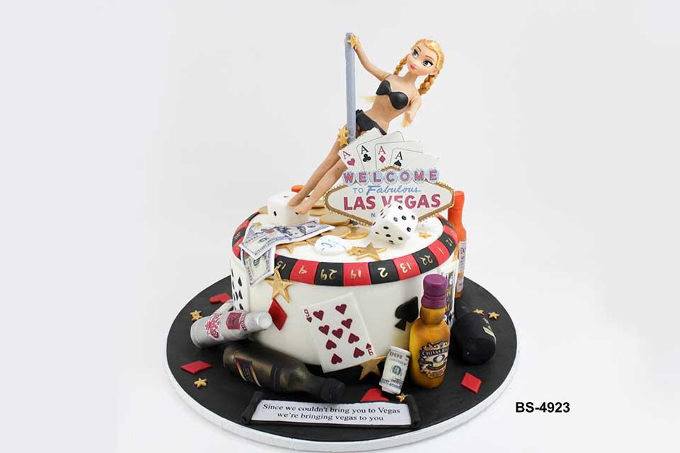 Amazing Las Vegas Cake Bs 4923 Casino Theme Cake Bee Sweet Uae Birthday Cards Printable Inklcafe Filternl