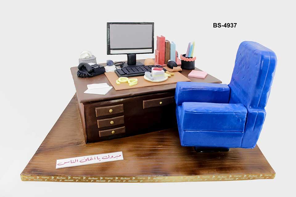 Office Desk Cake Bs 4937