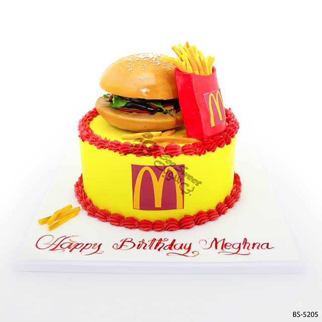 Groovy 3D Mcdonalds Cake Bs 5205 Bee Sweet Uae Birthday Cards Printable Nowaargucafe Filternl