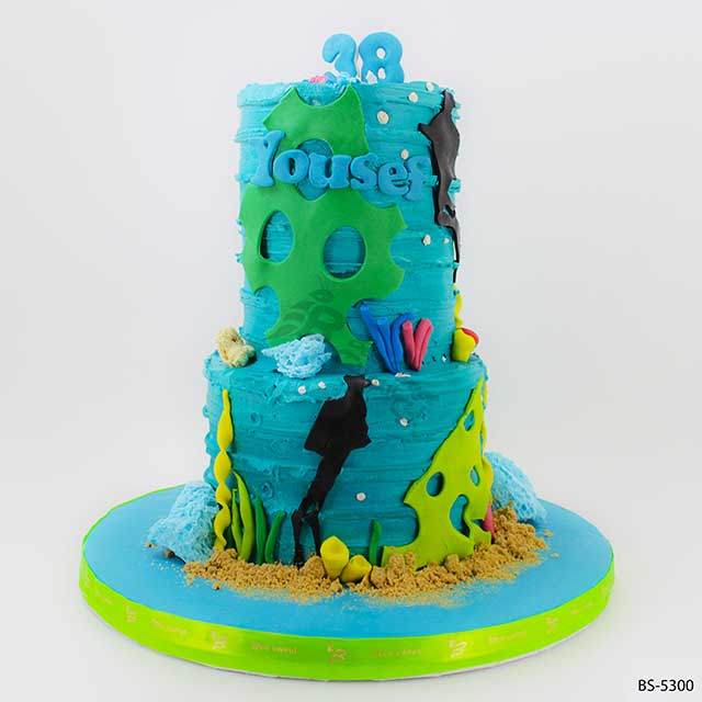 Terrific Under Sea Cakes Bs 5300 Creative Cakes Bee Sweet Uae Funny Birthday Cards Online Eattedamsfinfo