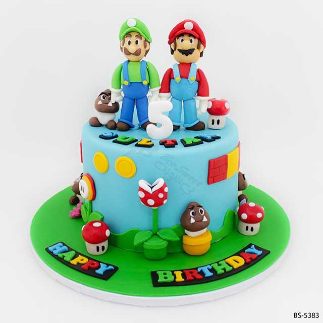 Astonishing Super Mario Cake Bs 5383 Creative Birthday Cakes Bee Sweet Uae Funny Birthday Cards Online Fluifree Goldxyz