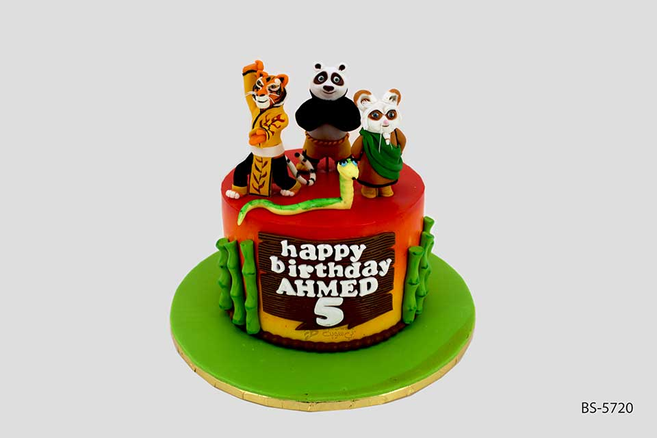 Terrific Kung Fu Panda Cake Creative Birthday Cakes Bee Sweet Uae Funny Birthday Cards Online Elaedamsfinfo