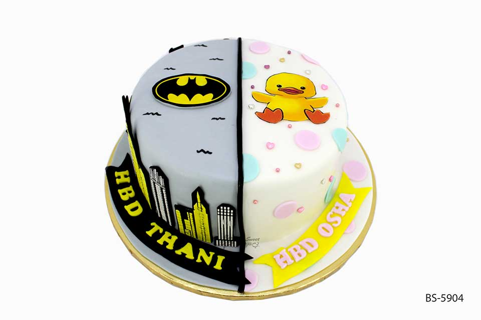 Cool Batman Birthday Cake Bs 5904 Creative Cakes Bee Sweet Uae Personalised Birthday Cards Veneteletsinfo